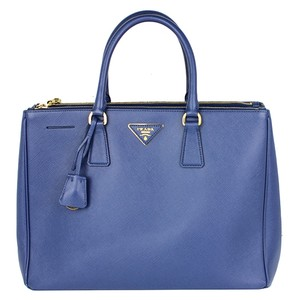 Prada Saffiano Shopper Tote in blue