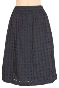 Gap Eyelet Knee Length Skirt BLACK