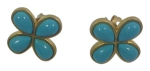 Freida Rothman Freida Rothman Gold plated on Silver Turquoise Stud Earrings NWT