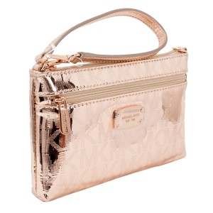 Michael Kors Jet Set Wristlet in Rose Gold