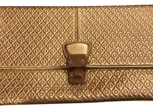 Tod's Gold Clutch