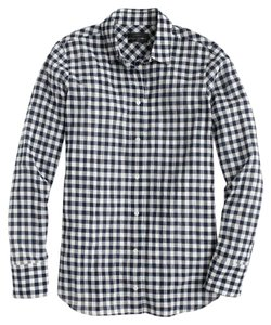 J.Crew Button Down Shirt Black and white