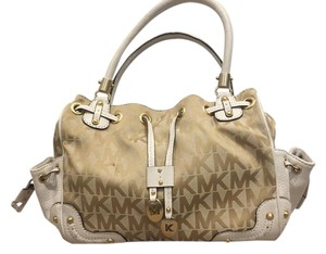 Michael Kors Mk Drawstring Gold Shoulder Bag