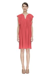 Rebecca Taylor short dress Tangerine Pink Silk on Tradesy