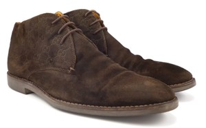 Gucci Men's Guccissima Suede Ankle Boots