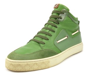 Gucci Men's Leather & Suede High Top Sneakers