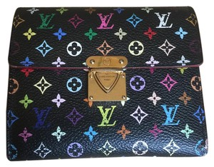 Louis Vuitton Louis Vuitton Black Multicolor Zippy Coin Wallet