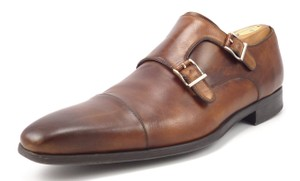 Magnanni Men's Leather Double Monk Strap Loafers