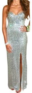 La Femme Formal Ball Gown Gown Sequin Beaded Dress