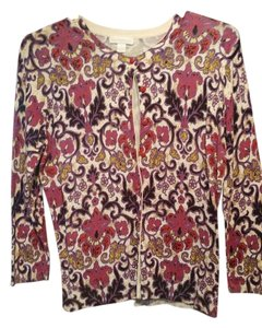 Charter Club Cardigan Damask Floral Sweater