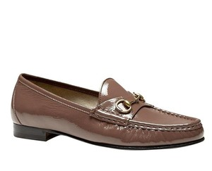 Gucci Soft Patent Leather Horsebit Mauve Flats