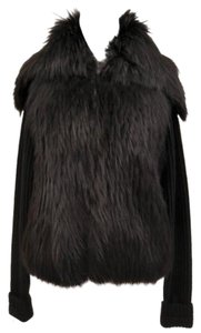 Versace Wool Fur Cardigan