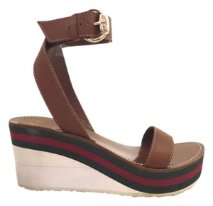Gucci Rubber Sole Brown Wedges