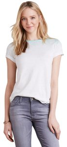 Anthropologie Ombre Soft T Shirt White & Green