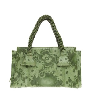Bottega Veneta Python Tote in Green
