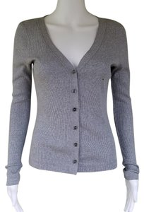 Ann Taylor LOFT Ribbed Cotton V-neck Cardigan
