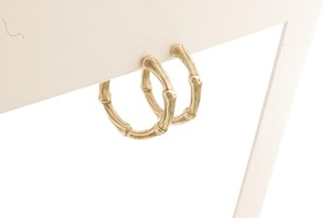 Tiffany & Co. Tiffany & Co Sterling Silver Bamboo Hoop Earrings