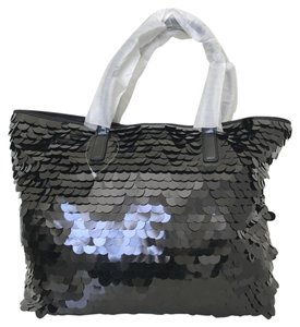 Talbots Sequin Plastic Large Tote in Black