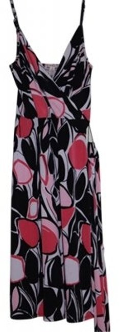 Preload https://item4.tradesy.com/images/merona-black-white-and-pink-knee-length-short-casual-dress-size-6-s-19868-0-0.jpg?width=400&height=650