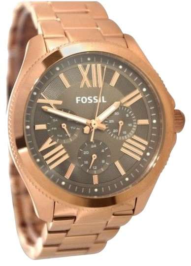 Fossil Fossil Women's Cecile Rose Gold-Tone Stainless Steel Bracelet Watch