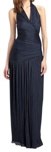 Halston Formal Gown Navy Prom Dress