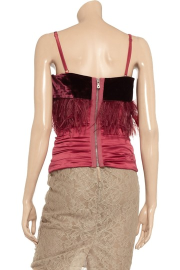 60%OFF Dolce&Gabbana Red New Dolce & Gabbana With Feathers Top - 86% Off Retail