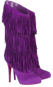 Christian Louboutin Forever Purple Boots