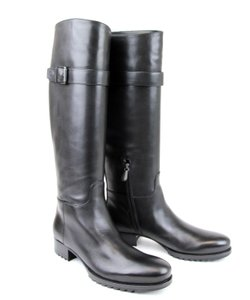 Bottega Veneta Leather Tall Black Boots