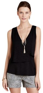 Anthropologie Tiered Tank Top Black
