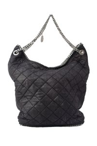 Stella McCartney Chain Quilted Tote in Black