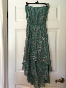 Ella Moss short dress Teal Floral on Tradesy