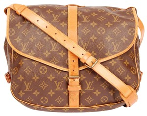 Louis Vuitton Saumur 35 Canvas Leather Monogram Messenger Bag
