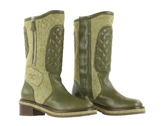 Chanel Green Boots Image 1