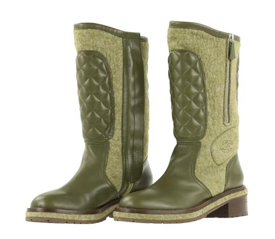 Chanel Green Boots Image 3