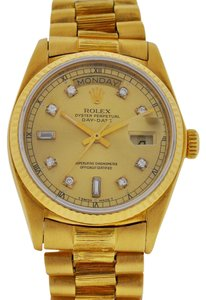 Rolex Rolex Daydate President 18K Yellow Gold Diamond Watch