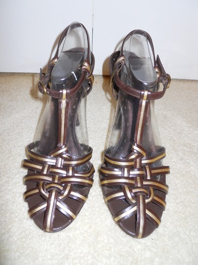 BCBGeneration Leather Mbc brown & gold Sandals