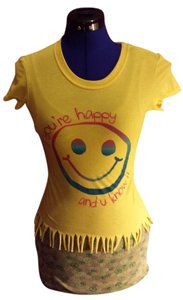 t-n-t Happy Shortsleeve Xsmall T Shirt Yellow
