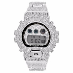 G-Shock Full Iced Out G Shock Watch Dw600 Custom Mens Digital