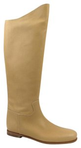 Bottega Veneta Leather Tall Tan Boots