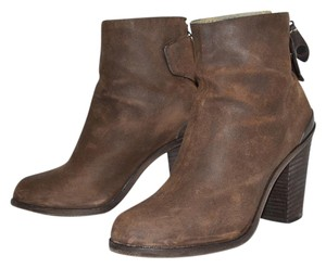 Rag & Bone Heel Ankle Boot BROWN WAXED ITALIAN SUEDE Boots