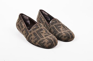 Fendi Loafers Moccasins Brown Flats