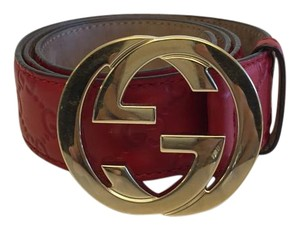 Gucci Gucci Monogram Belt With Interlocking G