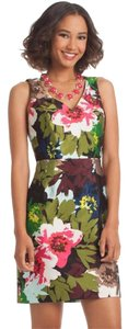 Trina Turk Flora Sheath Silk Holiday Dress