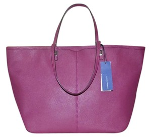 Rebecca Minkoff Saffiano Leather East West Handbag Tote in Magenta