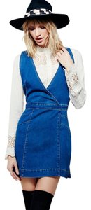 Free People short dress Stretchy Denim Overalls on Tradesy