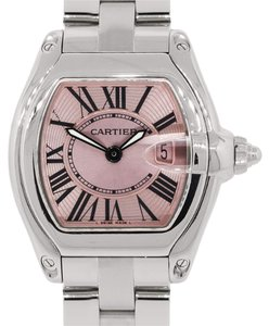 Cartier Cartier 2675 Roadster Pink Dial Stainless Steel Ladies Watch