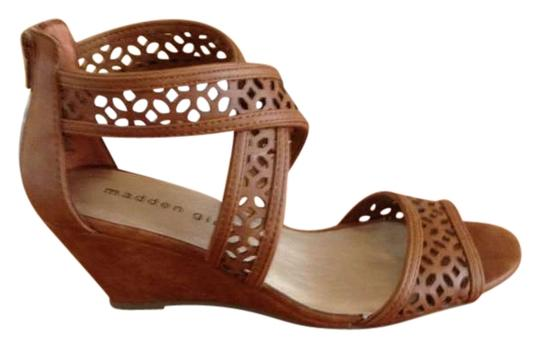 Madden Girl Cognac Wedges