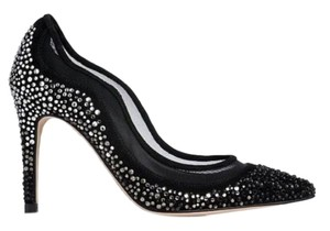 L.K. Bennett Embellished Crystal Black Pumps