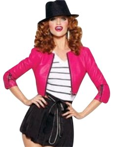 bebe Pink Leather Jacket