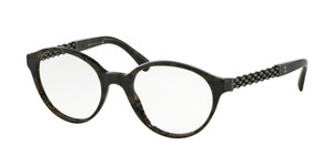 Chanel Round Grey Tweed Chain Eyeglasses